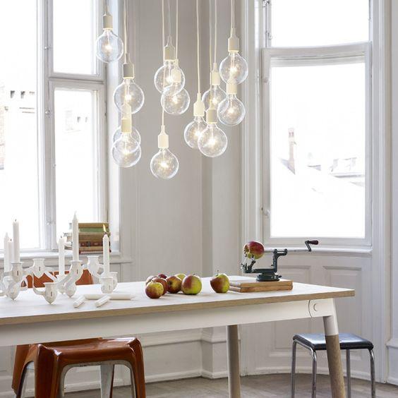 suspension ampoule, éclairage salle à manger