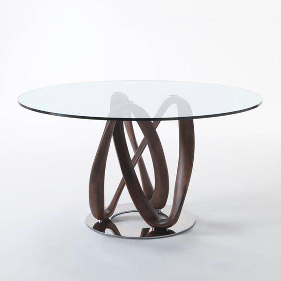 家具 ブランド ポラダ イタリア インテリア テーブル 木 職人 ガラス エレガント