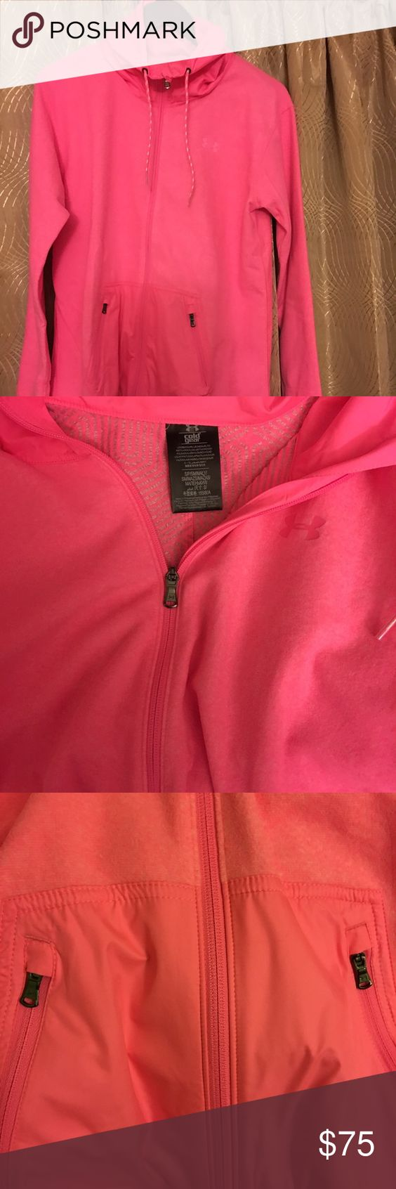 UA zipper pink sweaterNWT | D, Pink and Armour