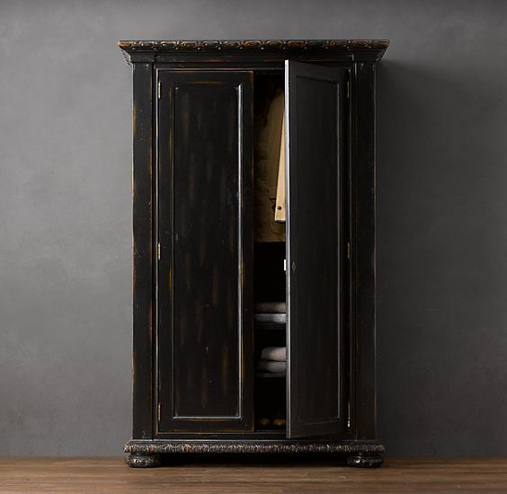 French Empire Armoire Antiqued Black. I Have This In My Living
