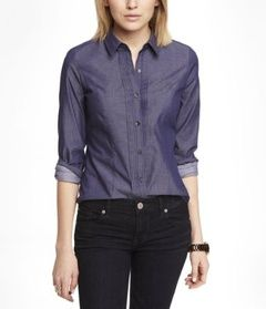 Express Long Sleeve Pintucked Essential Shirt // Hukk to find out when it goes on sale! #hukkster @Express #womensfashion #backtobasics
