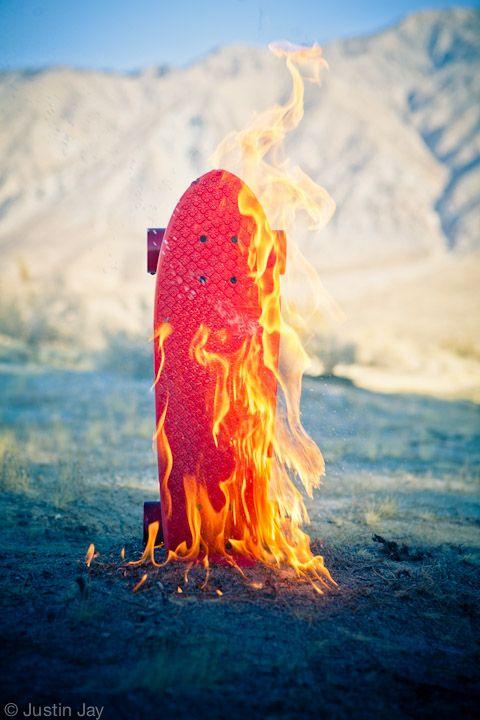 Skate in Flames - #Rewave_lab #skate #sk8 #photo #pic #colors #flames