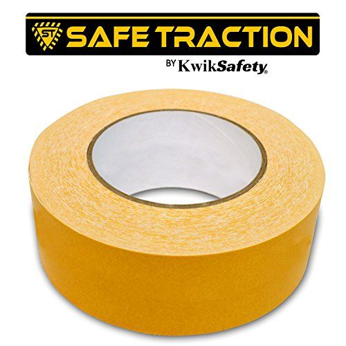 Kwiksafety Double Sided Non Slip Carpet Tape Indoor Outdoor Heavy Duty Anti Skid Adhesive Roll Long Lasting Water Resistant Carpet Tape Tile Floor Flooring
