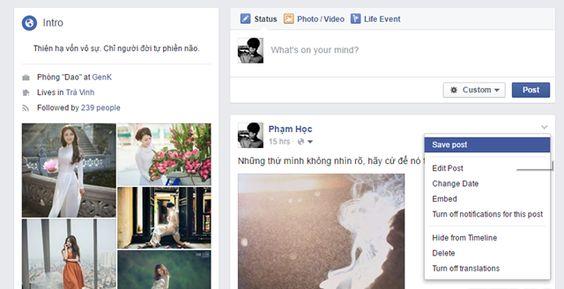 """Thủ Thuật Cho Dân Văn Phòng: Dùng thử tính năng Save to Facebook, """"xóa bỏ"""" định..."""