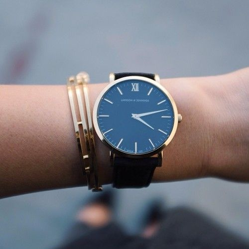 beautfiul & simple. a wrist doesn't need much....'arm candy' is tacky; THIS is perfection. especially enjoy the Larsson & Jennings watch