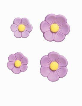 Amazon.com: Wilton Purple Posies Icing Flowers: Kitchen & Dining