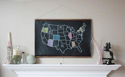 geography - chalk board style