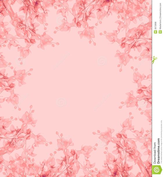 oval pink borders or border in floral flower