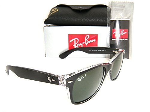 7b5c29738b New Authentic RayBan New Wayfarer RB 2132 605258 55mm Black Green Polarized      For
