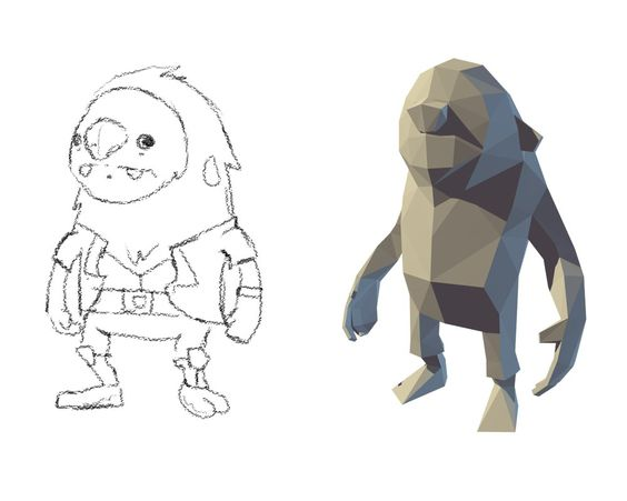 Lowpoly Muckfoot (WIP) by lithium-sound