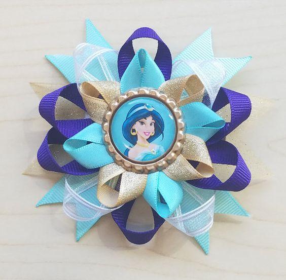 Princess Jasmine Inspired Hair Bow Jasmine Hair by BerryTreasured