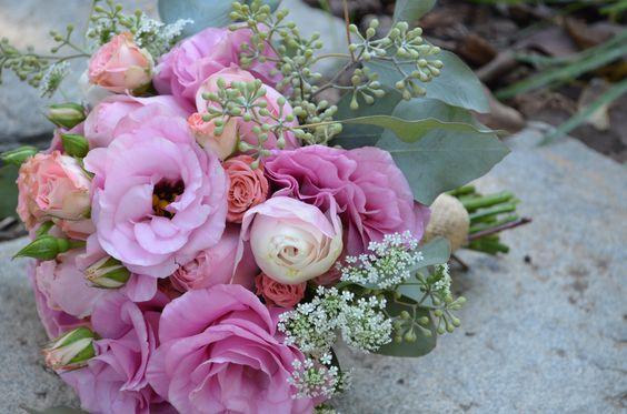 Blush Bridesmaid Bouquets Pink Lisianthus Blush Garden
