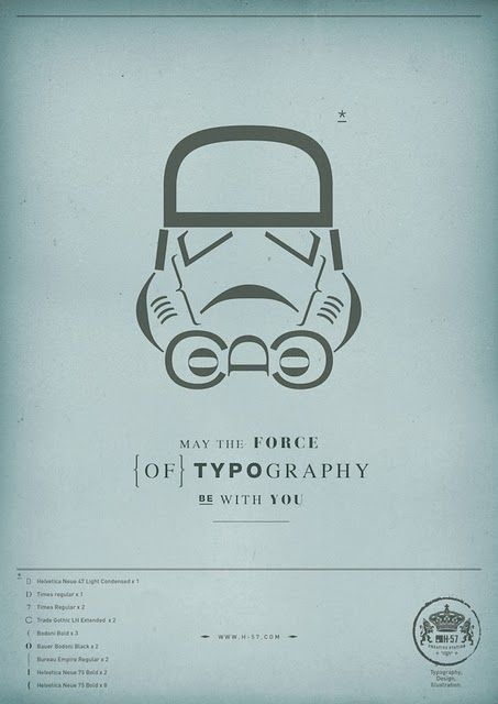 Cool Star Wars Poster using typography
