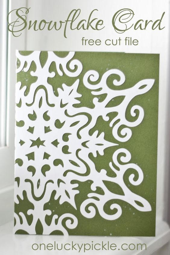 File Cards 10 Heart Svg: A Simply Gorgeous Snowflake Card--and There Are Free Cut