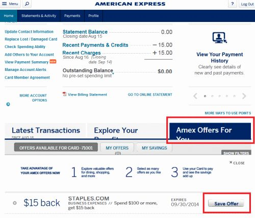 Chase Bank Statement Generator Beautiful Check Your Amex Account For A Tar Ed 15 F 100 Staples Fer Dansdeals In 2020 Bank Statement Chase Bank Statement Template