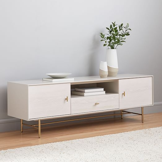 Modernist Wood Lacquer Media Console 68 Winter Wood In 2020 Tv Stand Decor Media Console Living Room Tv Stand