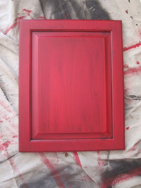 Repainting and glazing red cabinets: