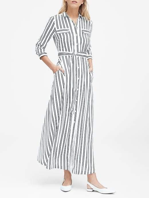 Banana Republic Petite Stripe Maxi Shirt Dress | Maxi shirt dress ...