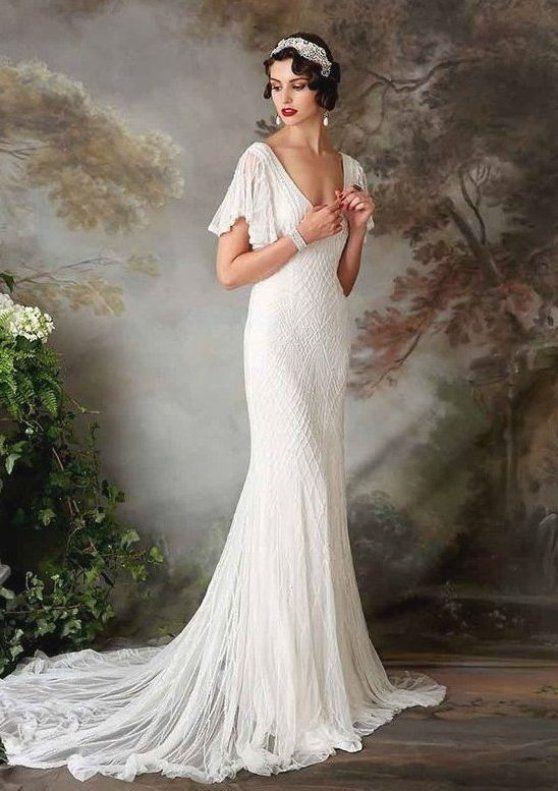 Eliza Jane Howell Wedding Dresses Roaring 1920s Style Ireland In 2020 Lace Wedding Dress Vintage Affordable Wedding Gown Sheer Wedding Dress