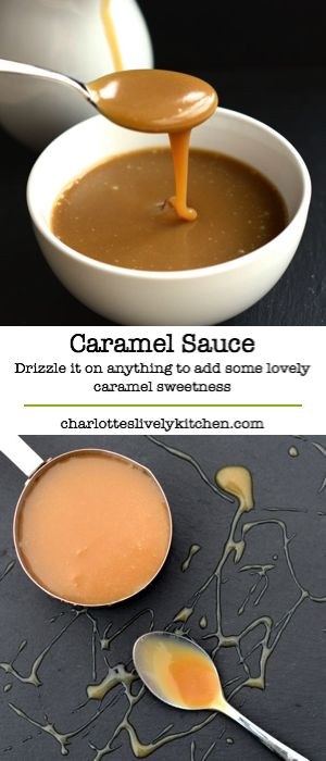 Delicious caramel sauce – Quick and easy to make with just three ingredients. Drizzle it on pretty much anything to add some lovely caramel sweetness.