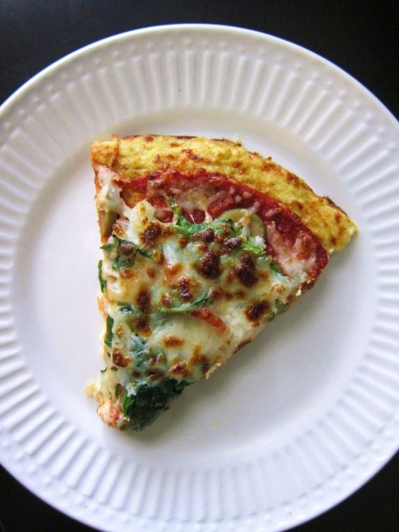 Cauliflower pizza crust.-Sounds interesting, wonder if it would work without the cheese?
