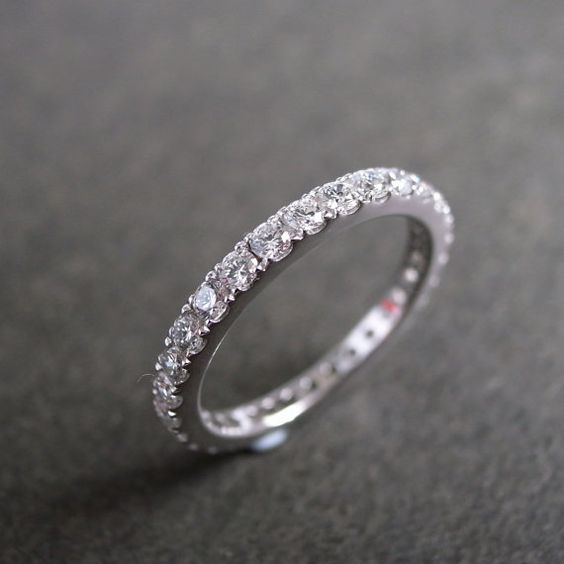 Eternity+Diamond+Wedding+Ring+in+14K+White+Gold+by+honngaijewelry,+$1840.00