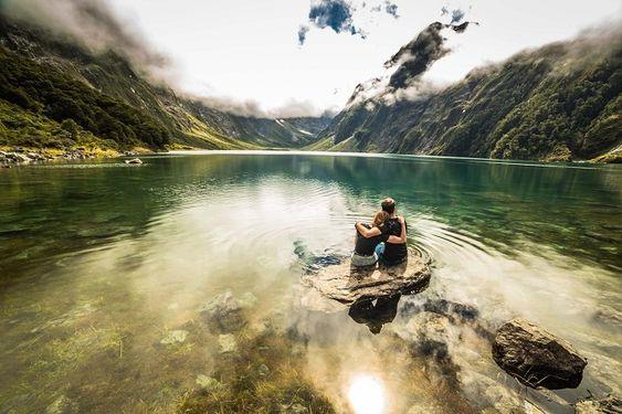 In A Faraway Land - Couple at Lake Marian