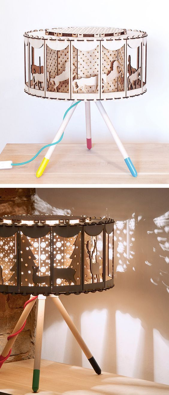 Carousel Table Lamp Nursery Decor Diy Gift Nurserydecor Carousel Ad Zoetrope Diygift Diylamp Carouselhorses Diy Nursery Decor Diy Crafts Lamp Diy Decor