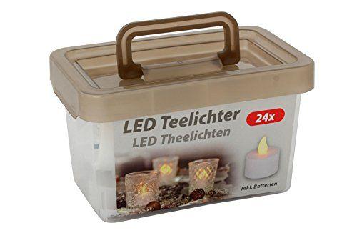 Teelicht LED 24 Stück flackernd 1 x 24 Stück in Tragebox: Amazon.de: Beleuchtung