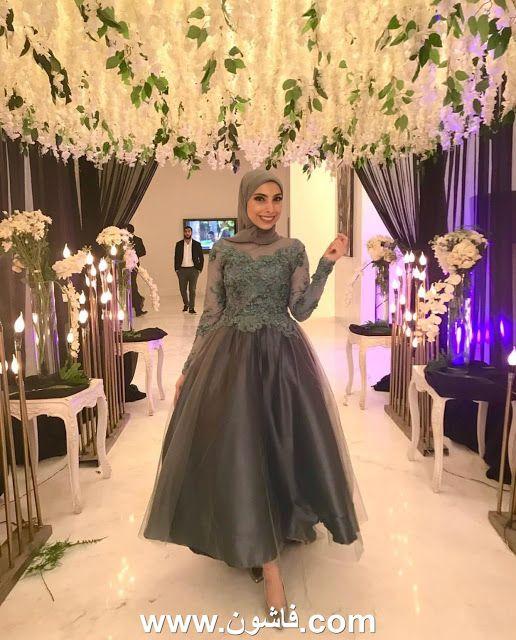 موضة الفساتين السواريه المنفوشة للمحجبات Stylish Party Dresses Soiree Dress Ball Gown Dresses