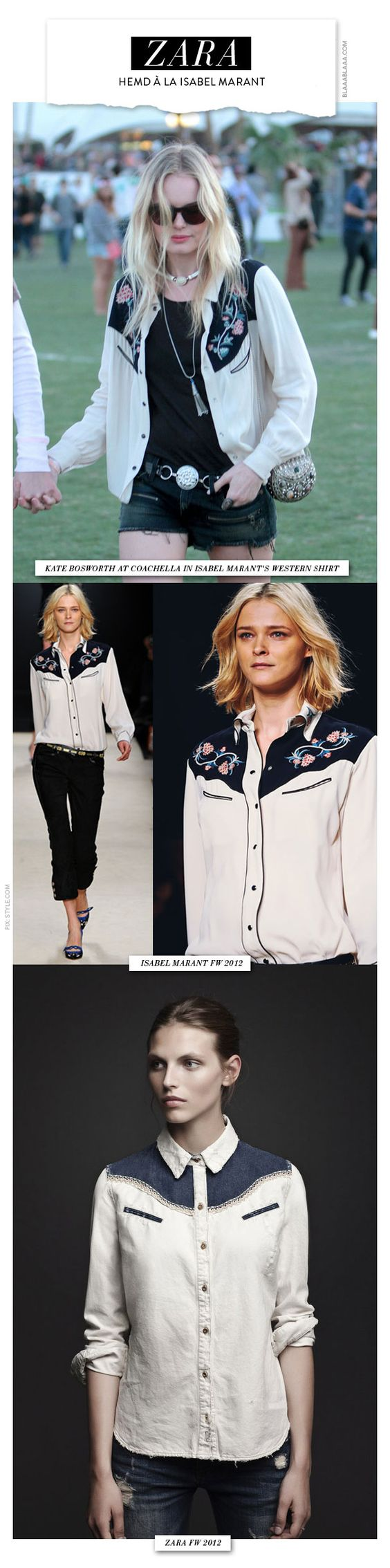Zara copies Isabel Marant Must-have Western Shirt