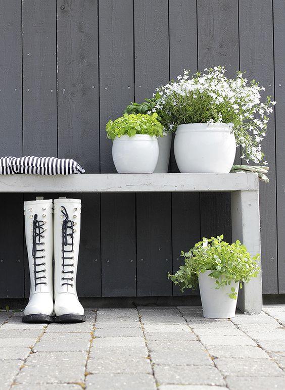 pots & bench