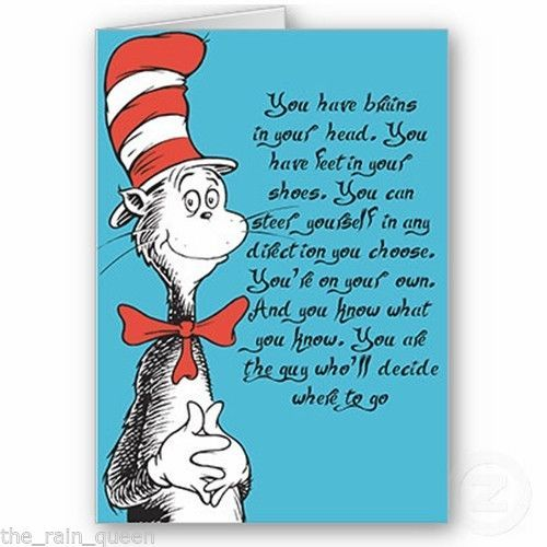 Dr. Seuss Graduation Card Congratulations fun card ...