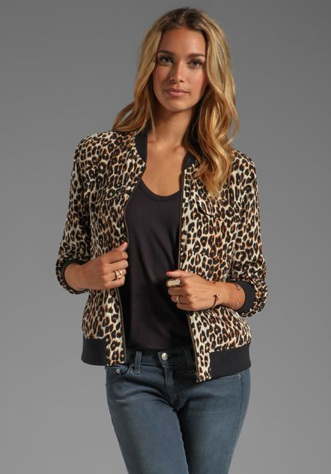 Cute leopard bomber jacket - great for jeans or to pop over a
