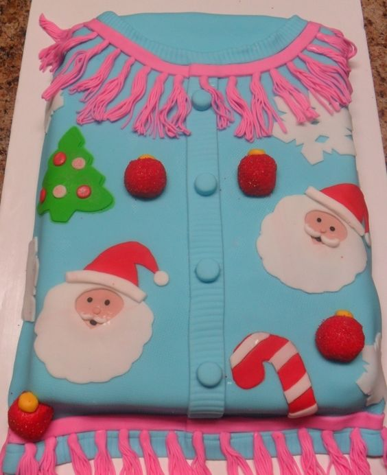 Ugly Christmas Sweater Cake: Sweater Cakes, Ugly Sweaters Cakes Cookies, Ugly Sweater Cake, Tacky Sweaters, Christmas Cakess, Ugly Christmas Sweater Cake, Christmas Sweaters