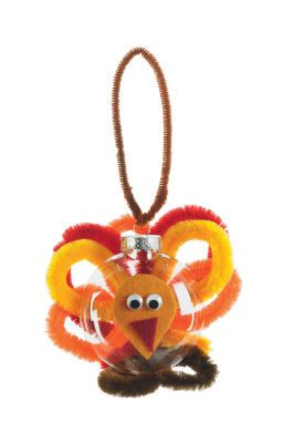 Turkey craft ornament made from pipe cleaners felt and for Pipe cleaner turkey craft