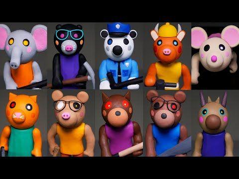 Making All Roblox Piggy Characters Part 3 Polymer Clay Tutorial Youtube In 2020 Polymer Clay Tutorial Clay Tutorials Piggy