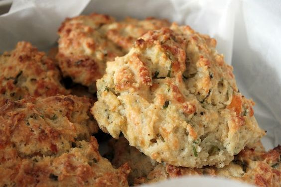 Cheese & Chive Scones w/Garlic Butter