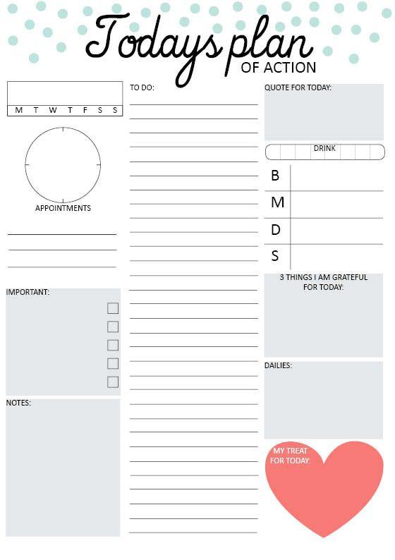 DIYtiful: Tagesübersicht für deinen Kalender