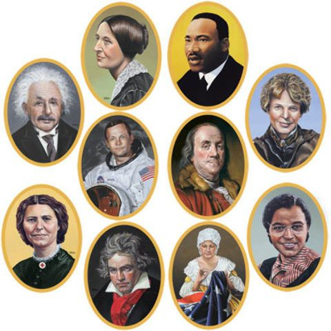 faces in history cutouts Case of 12