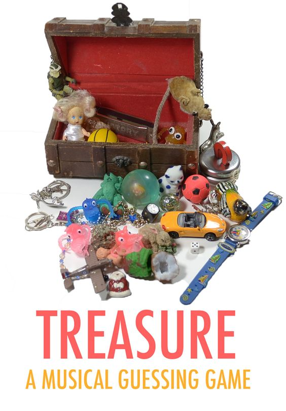 Treasure: a musical game which promotes imagination, tests your memory, builds musical confidence and is great fun too!
