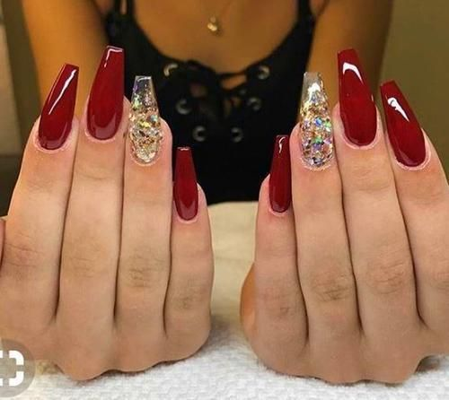 Gold Glitter Nails Gold Glitter Nails Red And Gold Nails Quinceanera Nails