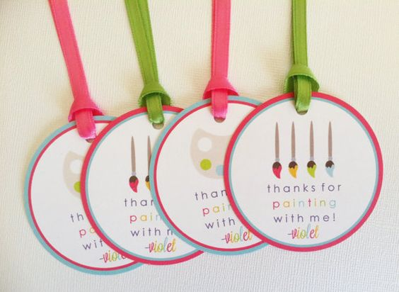 Girl Art Party / Paint Party Favor Tags Birthday by LittleMavens ...
