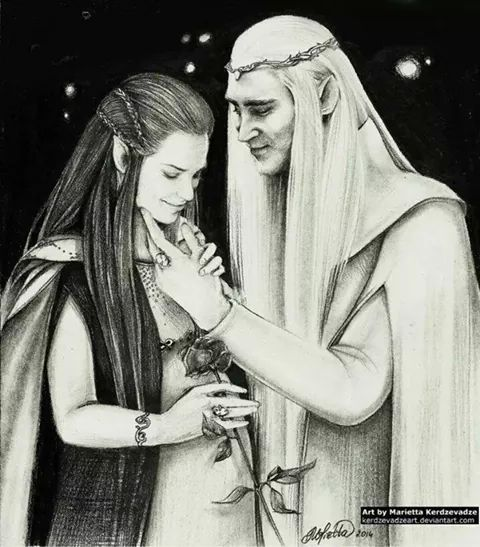 Gorgeous new fan art of thranduil and his wife the elvenking and
