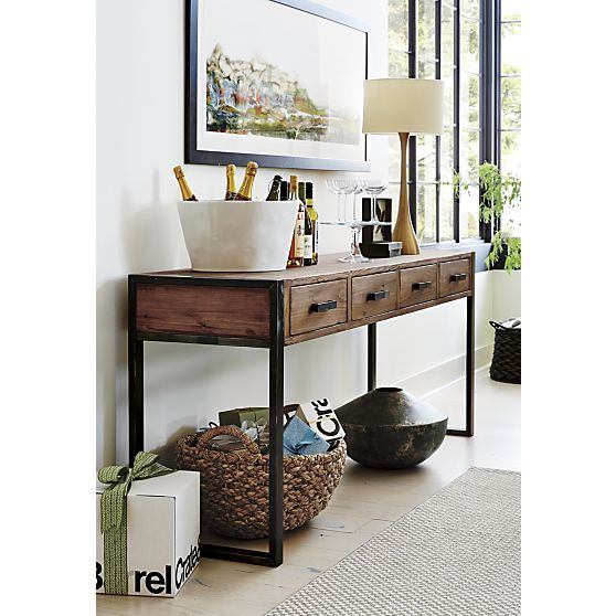 Foyer Table Crate And Barrel : Melrose brass table lamp crate and barrel entryway