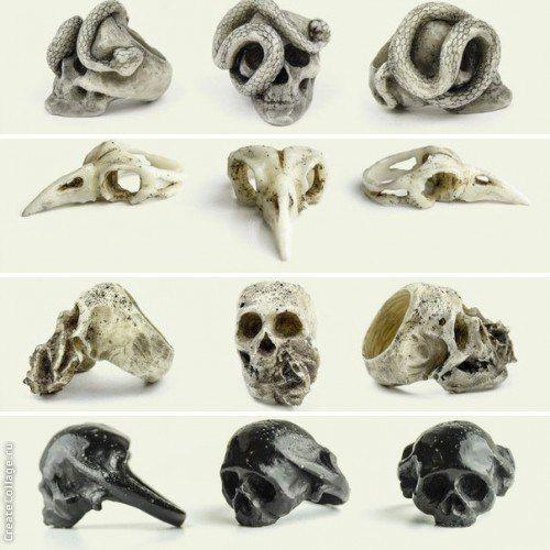 Macabre Gadgets Rings, skulls, horns, beak: