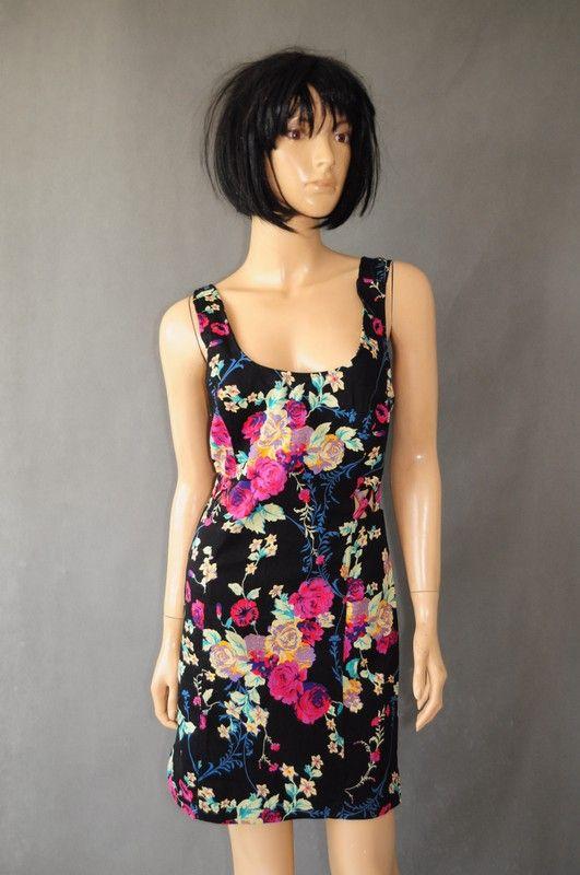 Czarna Sukienka W Kwiaty R 38 40 Atmosphere Vinted Pl Dresses Fashion Sleeveless Dress