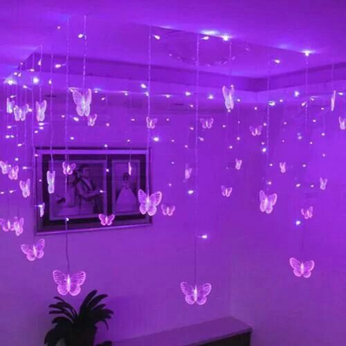 Purple room filled with butterflies :)