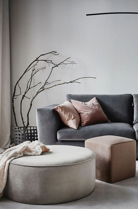 PARIS sittpuff - stor - Grå - Möbler - Jotex.se #ModernHomeDecorDIY