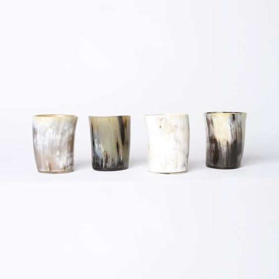 """""""stay sharp"""" horn whiskey tumblers, from best x made"""